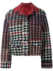 Isabel Marant Tweed Biker Jacket Multicolour