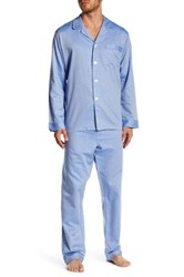 Majestic Long Sleeve Pajama 2 Piece Set Blue