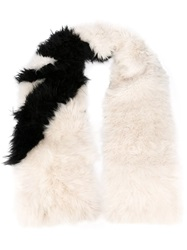 Msgm Oversized Furry Scarf Black