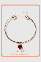 Topshop January Birthstone Bangle Red