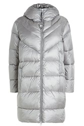 Blauer Quilted Down Coat Grey