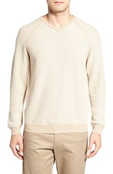 Tommy Bahama Men's 'Make Mine A Double' Reversible Pima Cotton V Neck Sweater Cobblestone