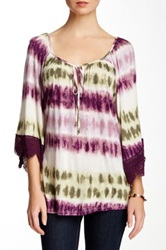 Voom By Joy Han Geneva Bell Sleeve Blouse Purple
