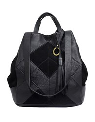 Sanctuary Textureblock Leather Convertible Bag Black