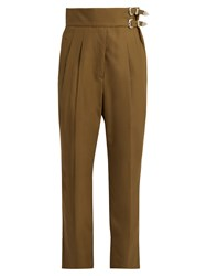Toga High Rise Slim Leg Trousers Khaki