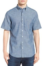 Vineyard Vines Men's Tisbury Pond Tucker Slim Fit Chambray Sport Shirt