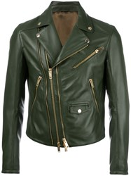 Les Hommes Zip Up Jacket Green