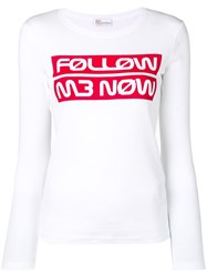 Red Valentino Follow Me Now Top White