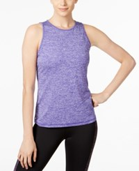 Ideology Heathered Keyhole Back Tank Top Only At Macy's Blazing Purple