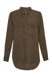 Great Plains Timed Out Tencel Shirt Green