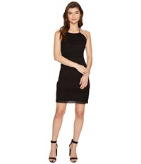 Bb Dakota Mona Crochet Lace Halter Dress Black Women's Dress
