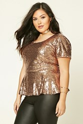 Forever 21 Plus Size Sequin Peplum Top