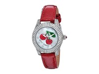 Betsey Johnson Bj00193 09 Crystal Bezel Silver Cherry Watches Red