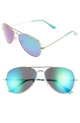 Lilly Pulitzerr Women's Pulitzer Lexy 59Mm Polarized Aviator Sunglasses Blue
