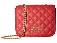 Love Moschino Quilted Crossbody Chain Strap Red Cross Body Handbags