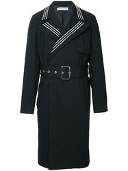 J.W.Anderson Jw Anderson Belted Double Breasted Trench Coat Blue
