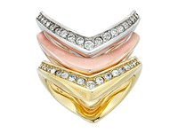 Michael Kors Tone And Crystal Stacked Ring Set Multi Ring