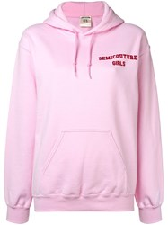Semicouture Francesca Hoodie Pink And Purple