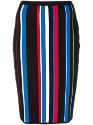 Versace High Waist Striped Effect Skirt