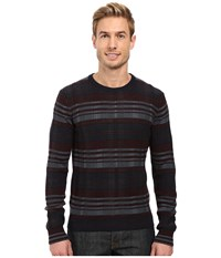 Perry Ellis Plaid Crew Neck Sweater Charcoal Heather Men's Sweater Gray