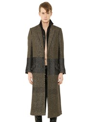Haider Ackermann Wool And Lurex Jacquard Long Coat