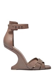 Rick Owens Cyclops Cantilevered Heeled Sandals Beige