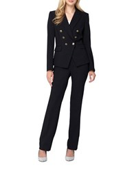 Tahari By Arthur S. Levine Double Breasted Pant Suit Black