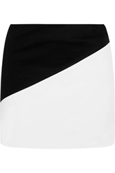 Alice Olivia Two Tone Stretch Cotton A Line Mini Skirt