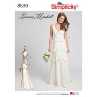 Simplicity Leanne Marshall Occasion Gown Sewing Pattern 8596