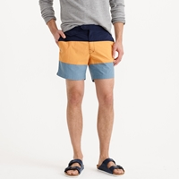 J.Crew 6.5' Tab Swim Short In Blue Colorblock