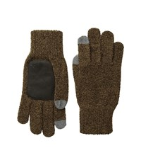 Original Penguin Textured Knit Tech Touch Gloves Brown Extreme Cold Weather Gloves