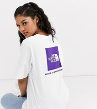 The North Face Boyfriend Red Box T Shirt In White Exclusive At Asos