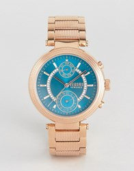 Versus By Versace S7908 Star Ferry Bracelet Watch In Rose Gold Gold