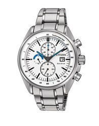 Citizen Stainless Steel Link Bracelet Chronograph Ca059082a Silver
