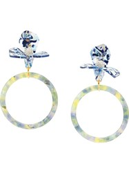 Lele Sadoughi Hoop Earrings Blue