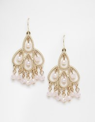 Oasis Filigree Drop Earrings Lightpink