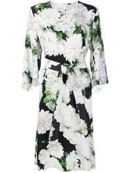 Adam By Adam Lippes Dahlia Print Midi Dress Green