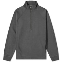 Folk Rivet Funnel Quarter Zip Sweat Grey