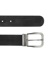 Moreschi Men's Black Perforated Leather Belt