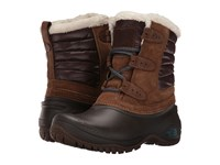The North Face Shellista Ii Shorty Dark Earth Brown Storm Blue Women's Lace Up Boots