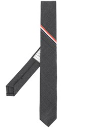 Thom Browne Classic Necktie With Seamed In Red Grey