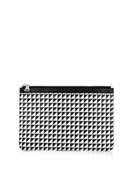 Proenza Schouler Geometric Triangle Print Leather Pouch