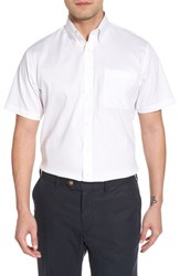 Nordstrom 'S Big And Tall Men's Shop Traditional Fit Non Iron Short Sleeve Dress Shirt White