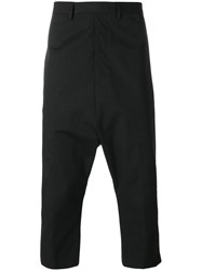 Rick Owens Extreme Cropped Trousers Black