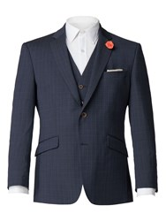 Aston And Gunn Banbury Airforce Texture Suit Blue
