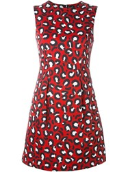 Love Moschino Leopard Print Flared Short Dress