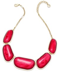 Charter Club Gold Tone Colored Stone Necklace Only At Macy's