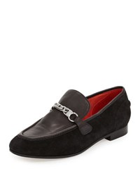 Rag And Bone Cooper Suede Chain Loafer Black