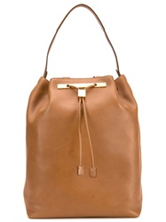 The Row '11' Drawstring Backpack Brown