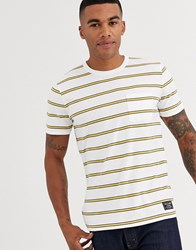 Abercrombie And Fitch Icon Logo Stripe T Shirt In White